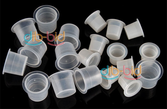 100 x Large Tattoo Ink Cups; 100 x Smal Tattoo Ink Cups